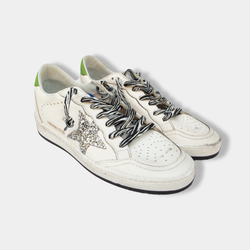 Ballstar Leather and Glitter Star Sneakers
