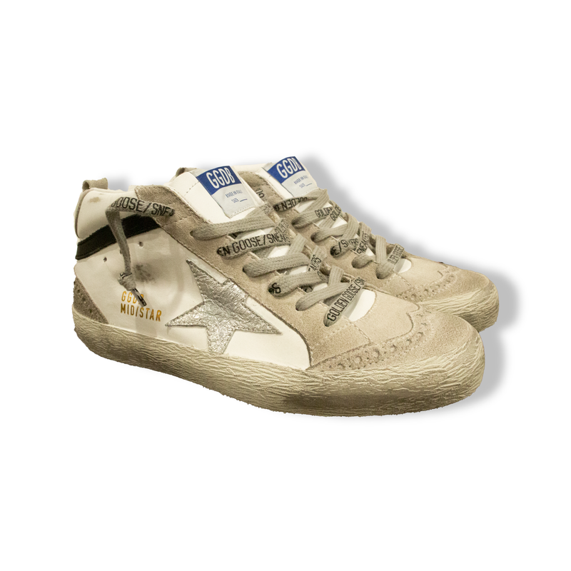 Midstar Leather & Wave Star Sneakers