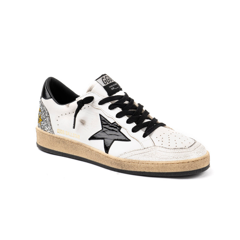 Ball Cracked Shiny Star Glitter Sneakers