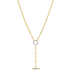 Sabelle Chain Lariat Necklace