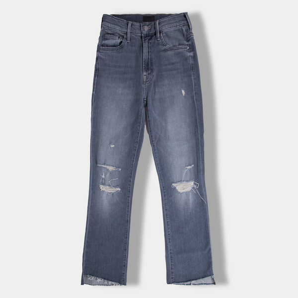 The Insider Crop Step Fray Jean