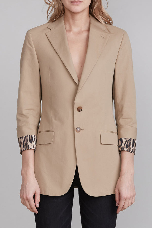 Blazer with Fold Over Cuff