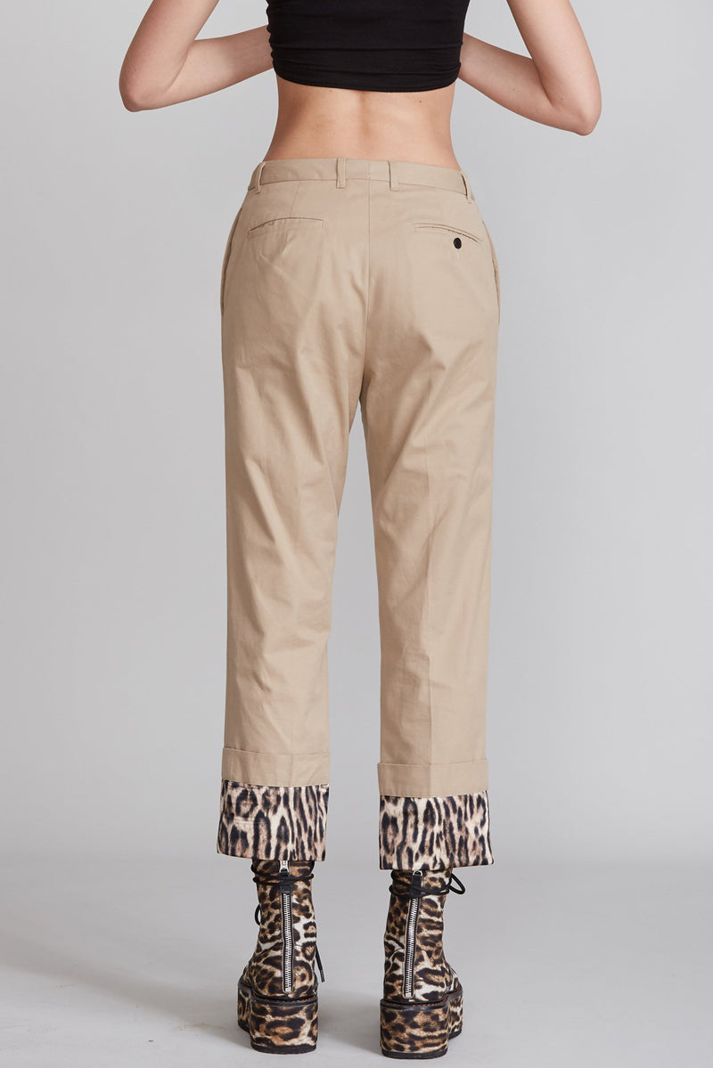 Pants with Fold Over Cuff