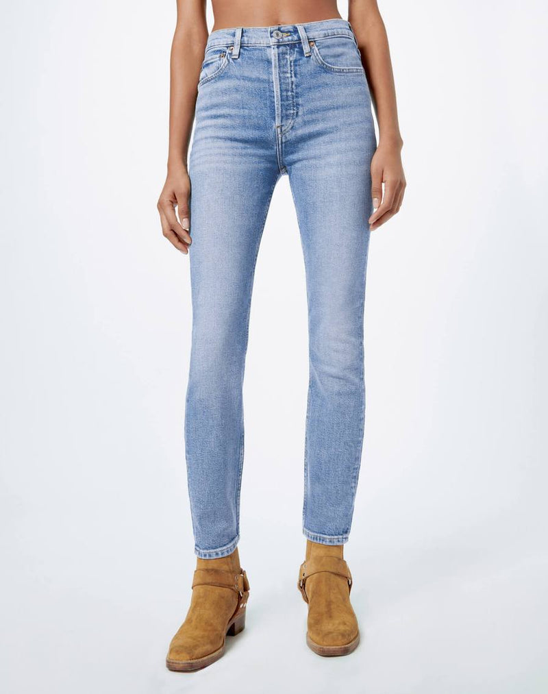High Rise Ankle Crop Jean
