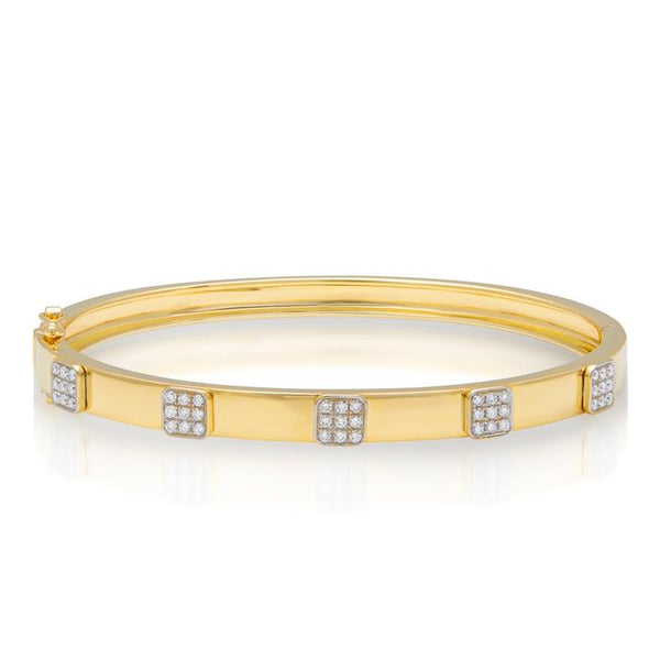 Diamond Spencer Bangle Bracelet