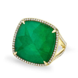 Emerald Diamond Luxe Cocktail Ring