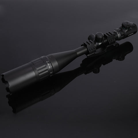 Image of NEW! 6-24x50 AO Mil-Dot Scope with Illuminated Reticle Cantilever Mount and Sunshade Extender