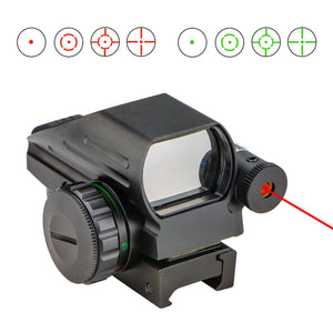 1x22x33 4 Mode Reticle Red & Green Dot Holographic Reflex Sight