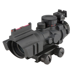 Compact 4x32 Illuminated Reticle Optic with Fiber Optic Front Sight - 20MM Rail Mount