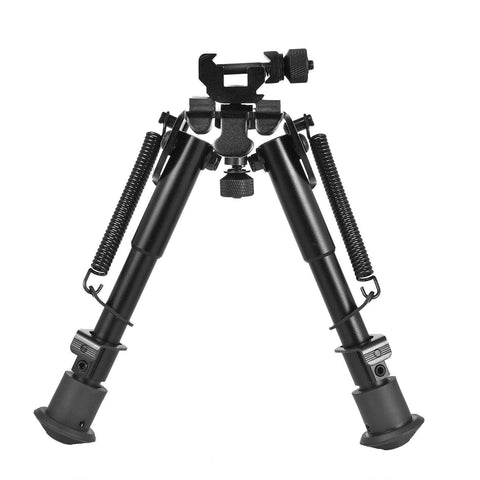 "Heavy Duty Adjustable 6-9"" Bipod with 360 Degree Swivel Adapter"