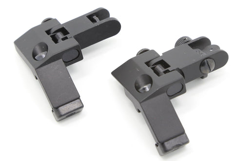 Image of Flip Up Front and Rear 45 Degree Offset Sights (BUIS) for Picatinny Rail Mount
