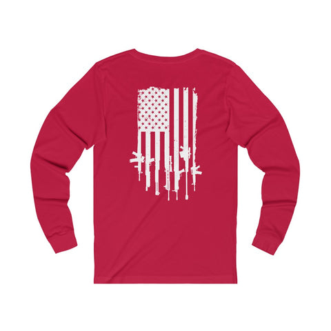 Image of Freedom Fire Flag Long Sleeve Tee
