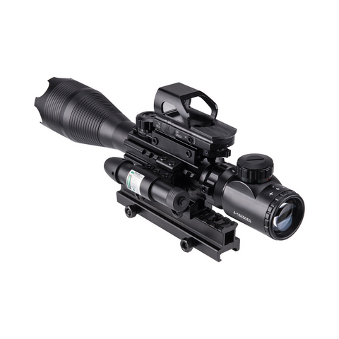 Image of HOT! 4-16x50 3in1 Illuminated Reticle Rangefinder Scope 4 Mode Holographic Dot Sight and Green Laser
