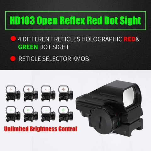 Image of 4-12X50 Rifle Scope with Red or Green Laser Sight and 4 Mode Holographic Reflex Sight