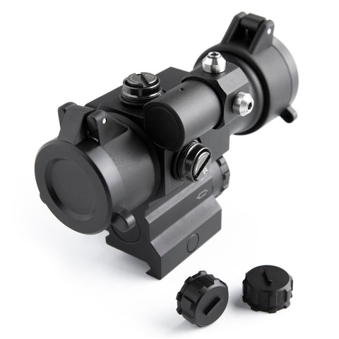 Image of Pinty Pro Series 1x 30mm 2 MOA Red Dot with Red Laser and Flip Up Lens Caps