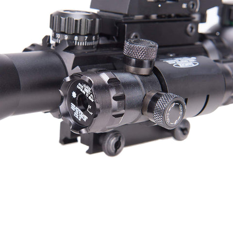Image of 4-12x50EG Illuminated Scope with Green Laser & Red-Green Reflex Site Combo Set
