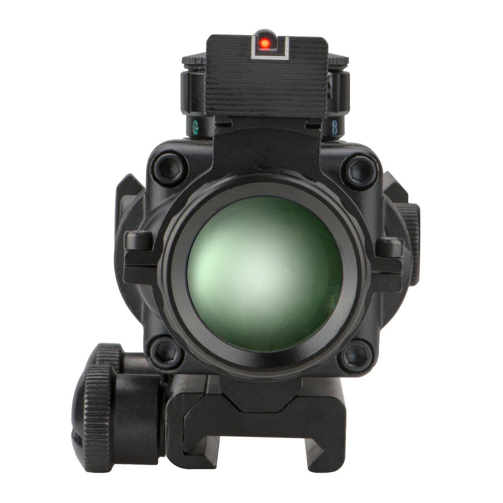 Compact 4x32 Illuminated Reticle Optic with Fiber Optic Front Sight