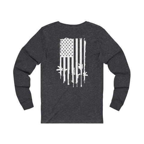 Freedom Fire Flag Long Sleeve Tee