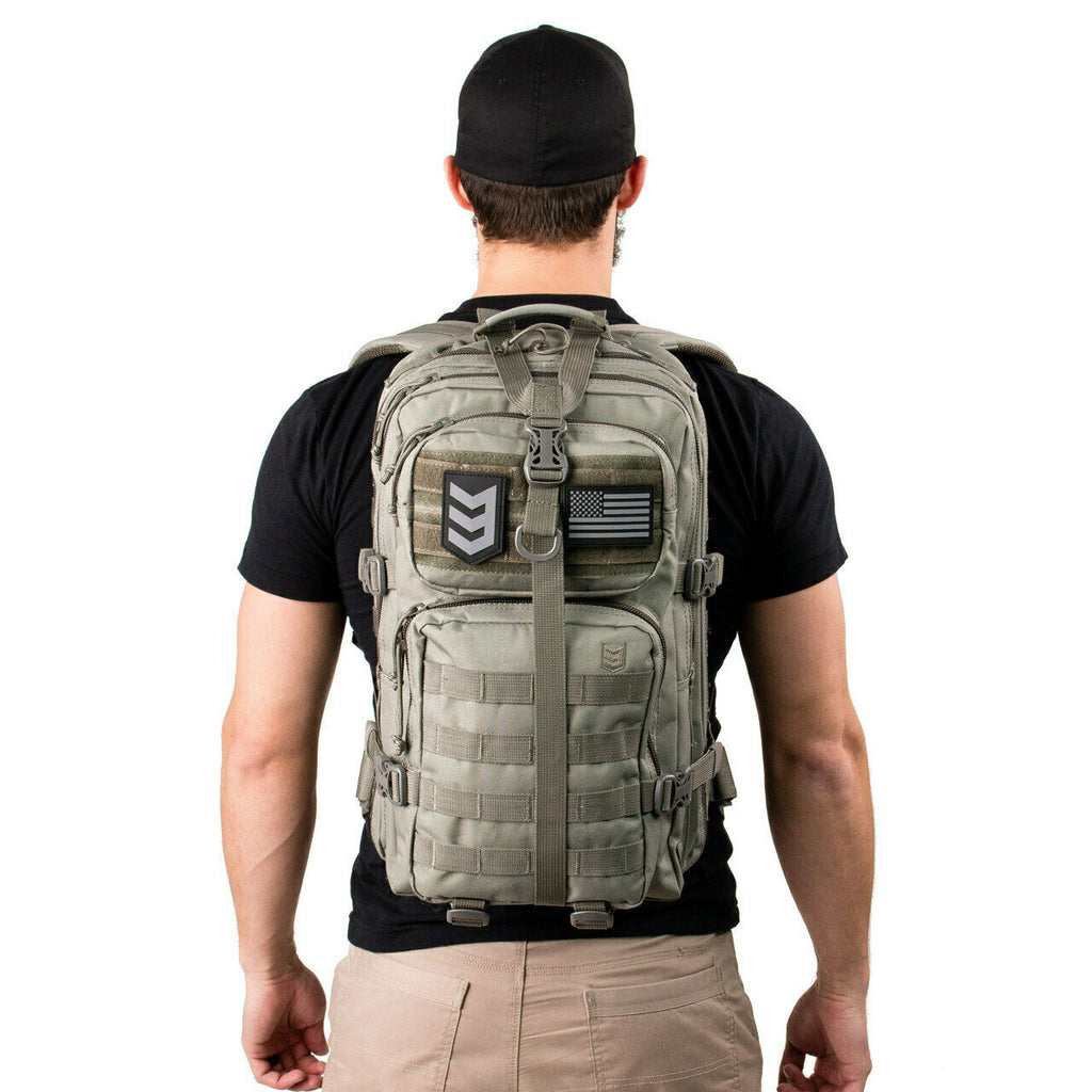 Large Tactical Assault Backpack - Grey