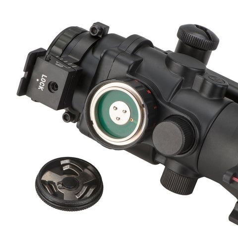 Image of Compact 4x32 Illuminated Reticle Optic with Fiber Optic Front Sight - 20MM Rail Mount
