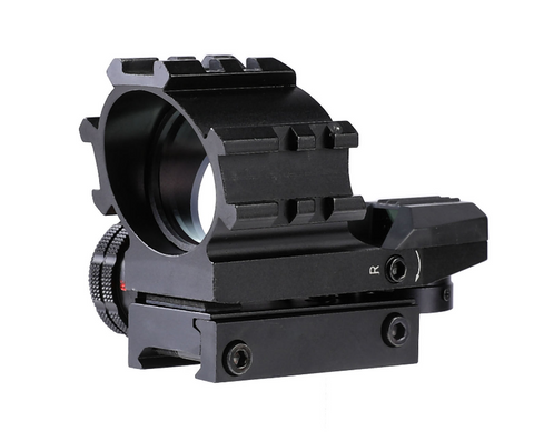 Image of 4-16x50 Illuminated Reticle Scope Package with Holographic Dot Sight and Green Laser