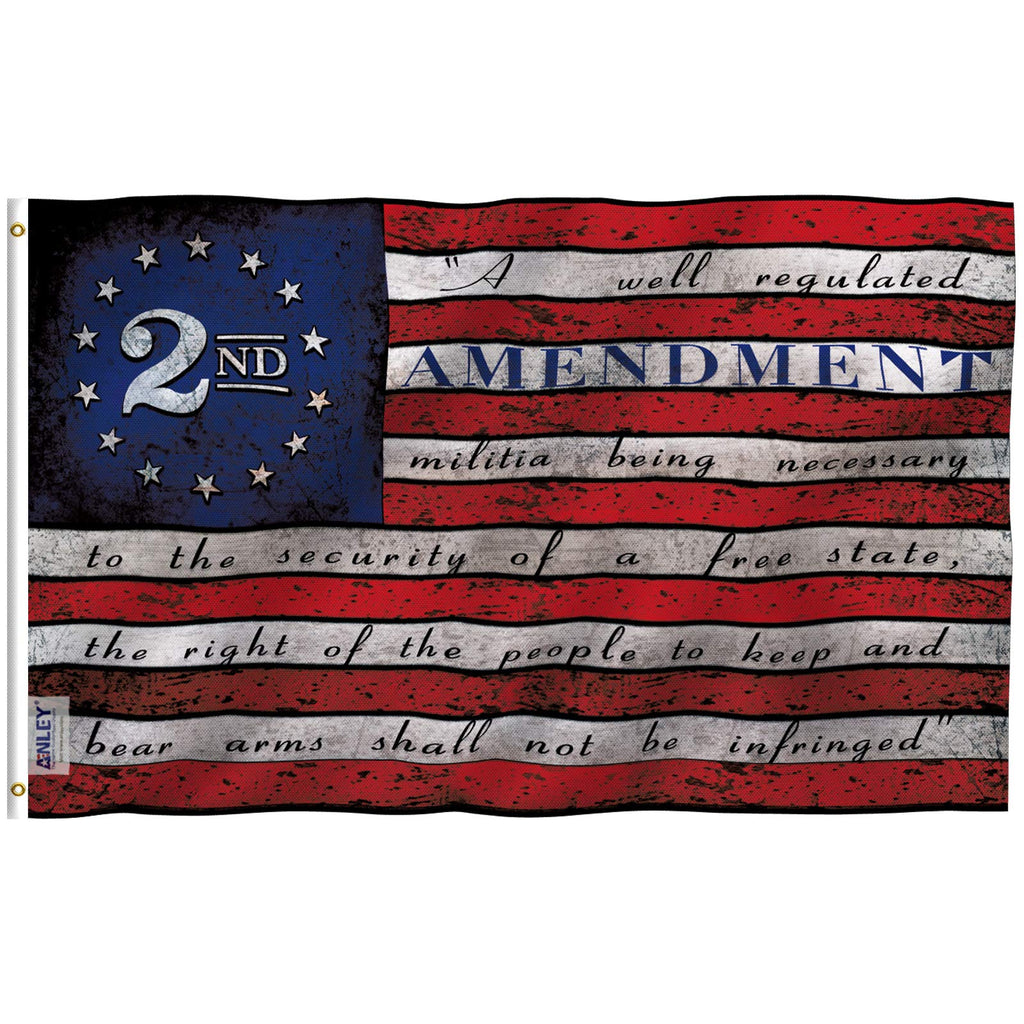 3x5 Foot 2nd Second Amendment Flag - Vivid Color and Fade Proof