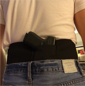 Slim Wrap Concealed Carry Belly Wrap Holster - for Waist Size 30-39