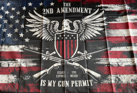 Image of The 2nd Amendment is My Permit Flag