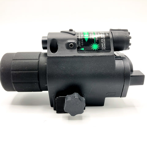2in1 Combo CREE Q5 LED Flashlight 200LM & Green or Red Laser Sight for Standard 20mm rail
