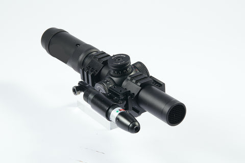 1-5x24 First Focal Plane FFP Rifle Scope with Red Green Illuminated MOA Reticle, Anti-Reflection Devices