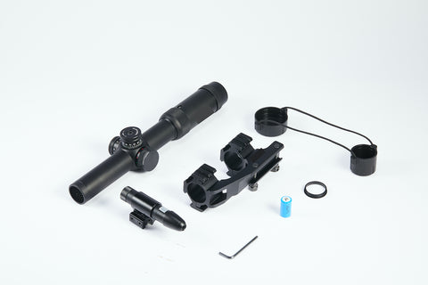Image of 1-5x24 First Focal Plane FFP Rifle Scope with Red Green Illuminated MOA Reticle, Anti-Reflection Devices