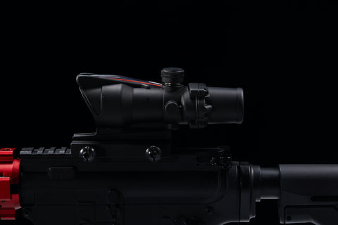 Image of 4x32 Tactical ACOG Style Rifle Scope with True Fiber Optic Red Illuminated Crosshair