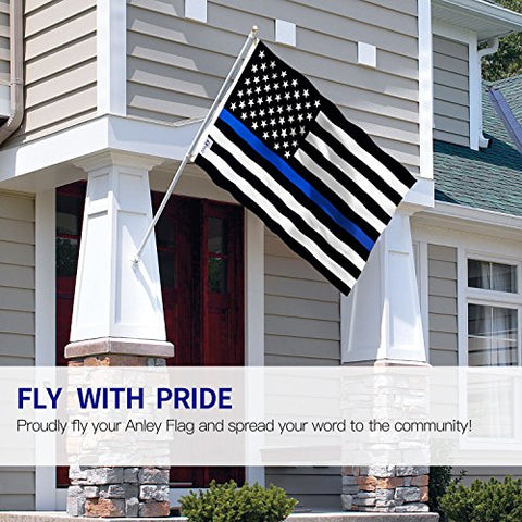 Image of Thin Blue Line USA Flag 3x5 Foot - Honoring Law Enforcement Officers