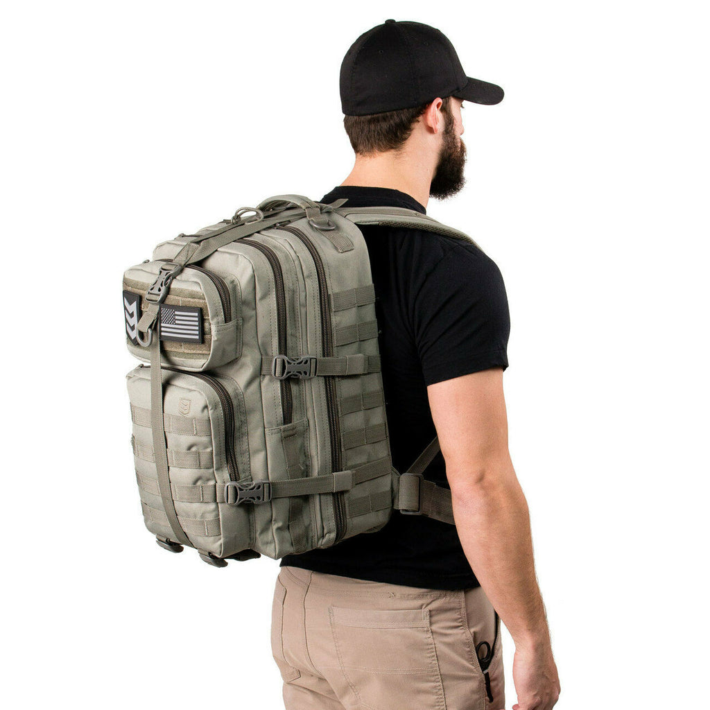 Large Tactical Assault Backpack, Coyote Tan