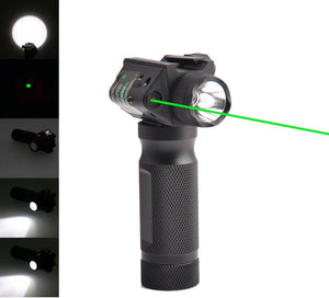 Vertical Foregrip with Combo Light-Strobe-Laser Red or Green