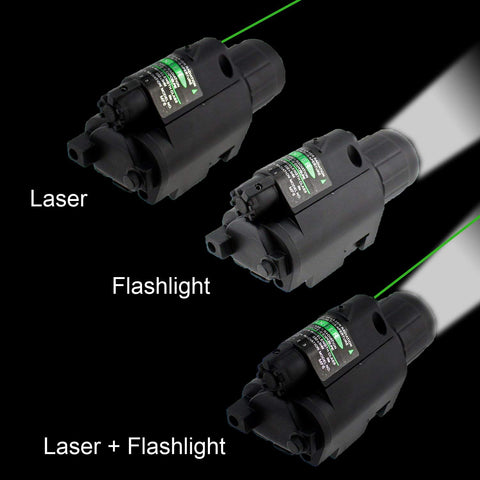 Image of 2in1 Combo CREE Q5 LED Flashlight 200LM & Green Dot Laser Sight for Standard 20mm rail