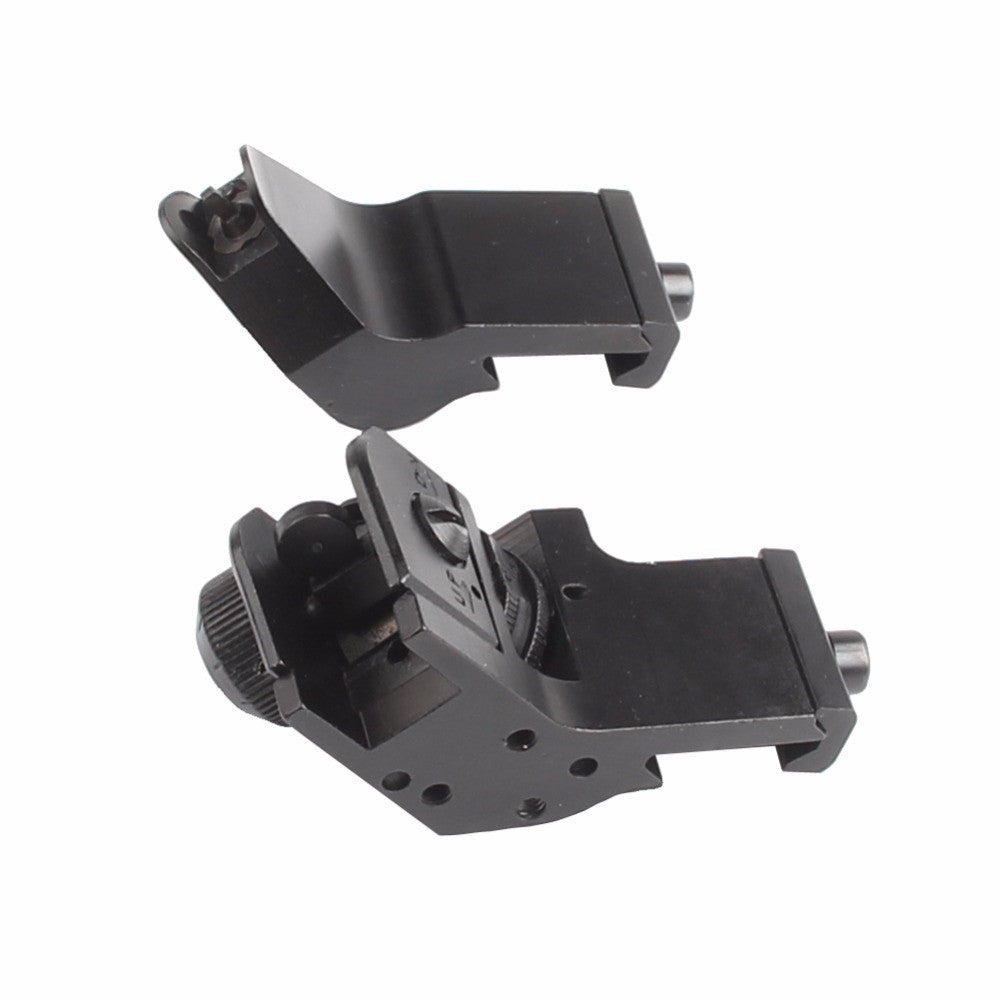 45 Degree Offset Rapid Target Acquisition Front and Rear Backup Iron Sights for AR-15 Platform Picatinny Rail - Stand for the 2nd