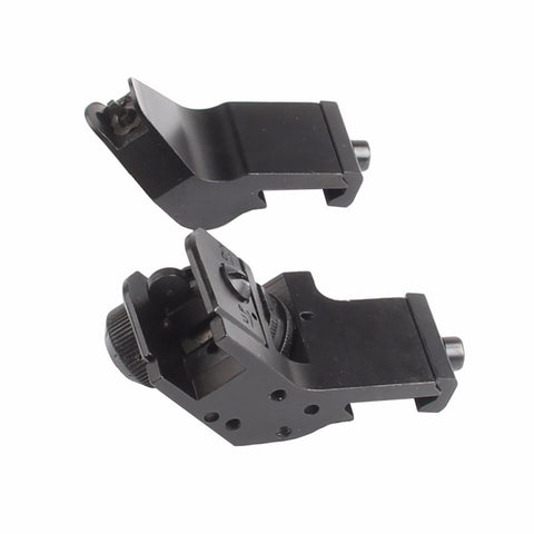 Image of 45 Degree Offset Rapid Target Acquisition Front and Rear Backup Iron Sights for AR-15 Platform Picatinny Rail - Stand for the 2nd