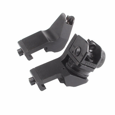 45 Degree Offset Rapid Target Acquisition Front and Rear Backup Iron Sights for AR-15 Platform Picatinny Rail