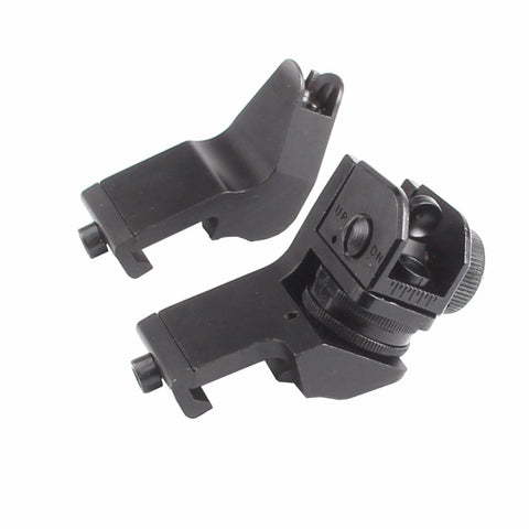 HOT! 45 Degree Offset Rapid Target Acquisition Front and Rear Backup Iron Sights for AR-15 Platform Picatinny Rail