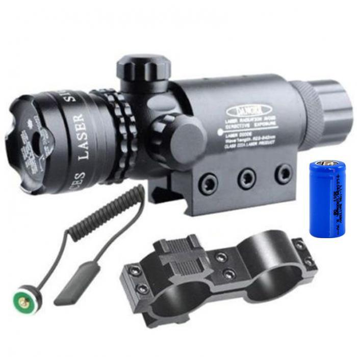 Green Laser Sight Adjustable with Mounts and Pressure Switch