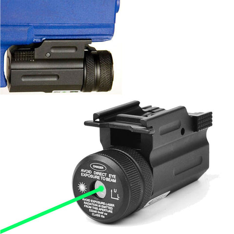 Tactical Low Profile Green Dot Laser Sight - Universal Picatinny Rail Mount