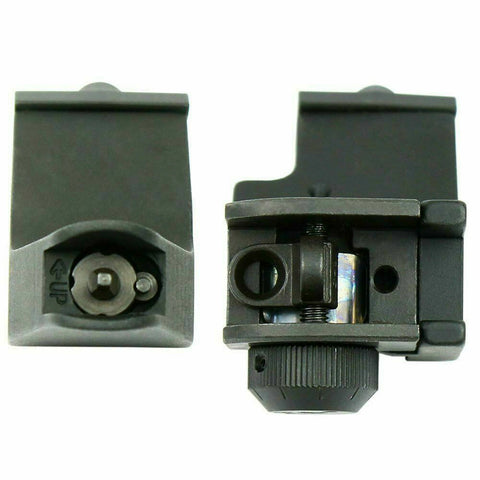 Image of 45 Degree Offset Front and Rear Backup Iron Sights - Picatinny Rail Mount