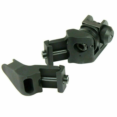 45 Degree Offset Front and Rear Backup Iron Sights - Picatinny Rail Mount
