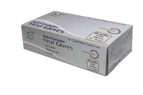 Vinyl Powder-Free Exam Gloves by 5 Star Supply