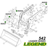 542 Legend Loader Pivot Pin Diagram
