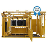 Sioux Steel Squeeze Chute with Automatic Head Gate