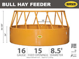 15 Feed Opening Hay Feeder