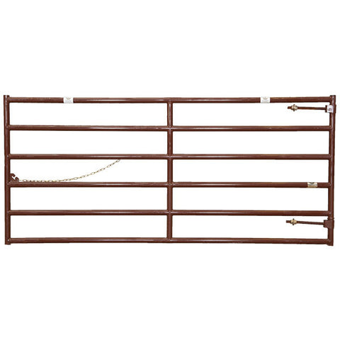 Brown HiQual Cattleman Gate With Warranty