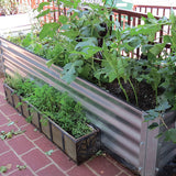 Rustic Metal Garden Bed for Vegetables